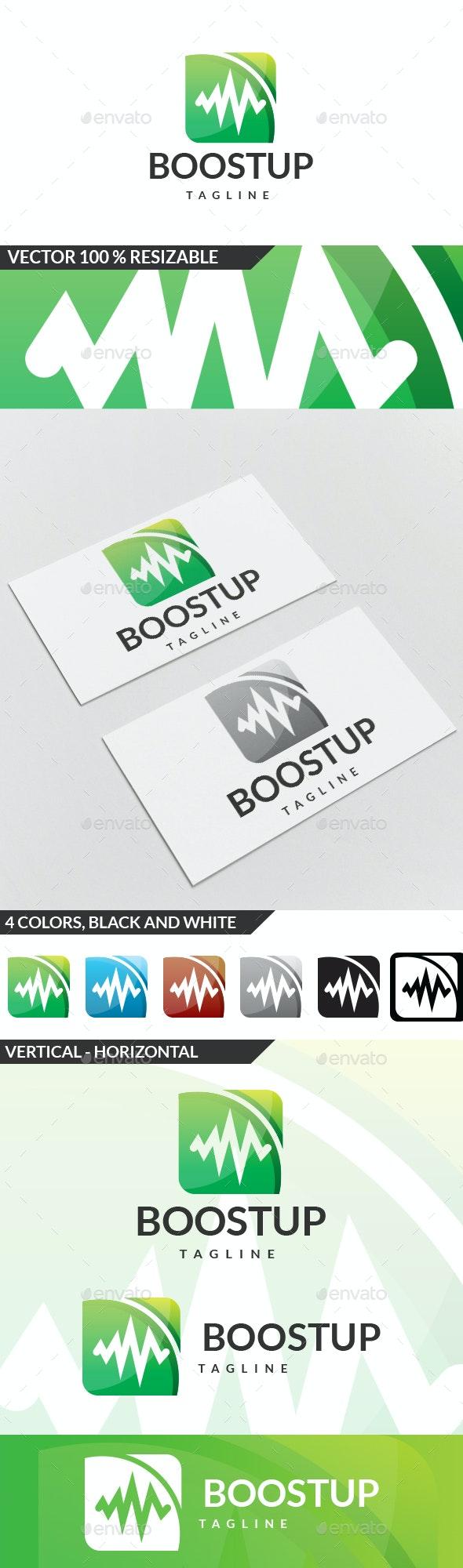 Boost Up Logo - Symbols Logo Templates