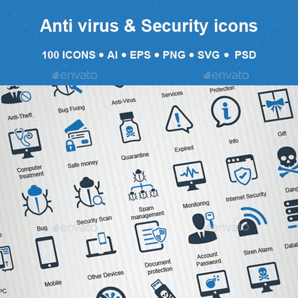 Anti Virus & Security Icon
