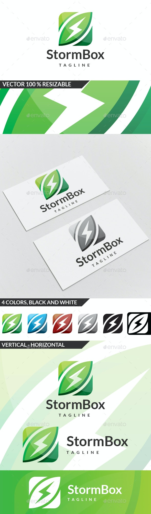 Storm Box Logo - Symbols Logo Templates