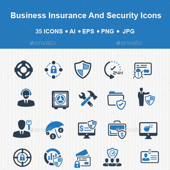 Business Insurance and Security Icons