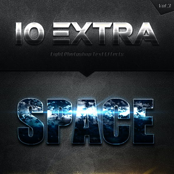 10 Extra Light Text Effects Vol.3