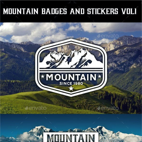 Mountain Badges and Stickers Vol 1