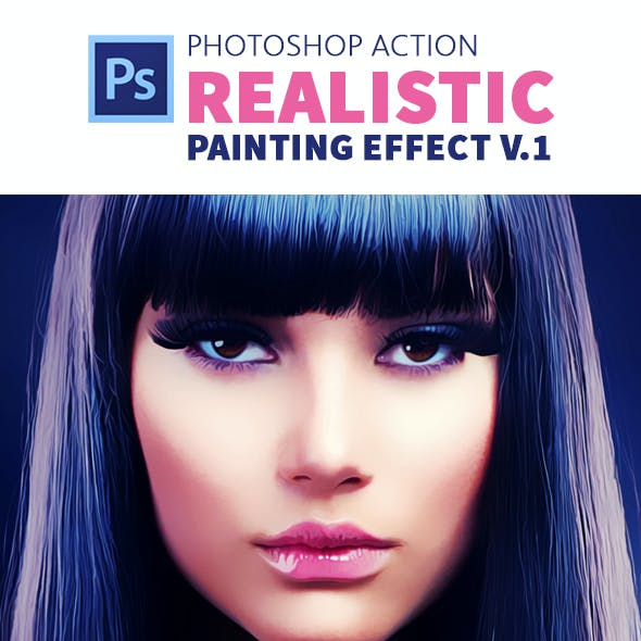 Realistic Painting Effect V 1.0 | Photoshop Action