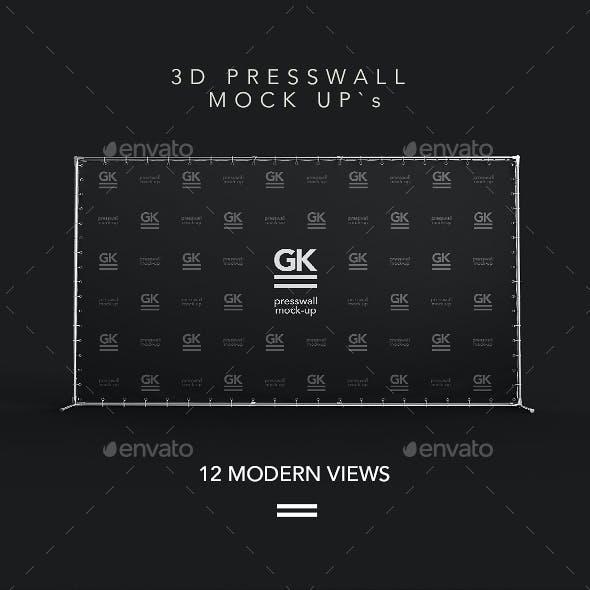 3D Press Wall / Banner Mock Up