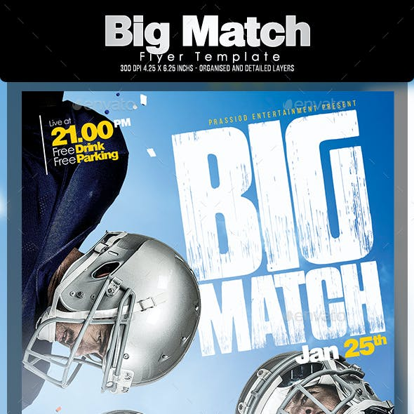 Big Match Flyer Template