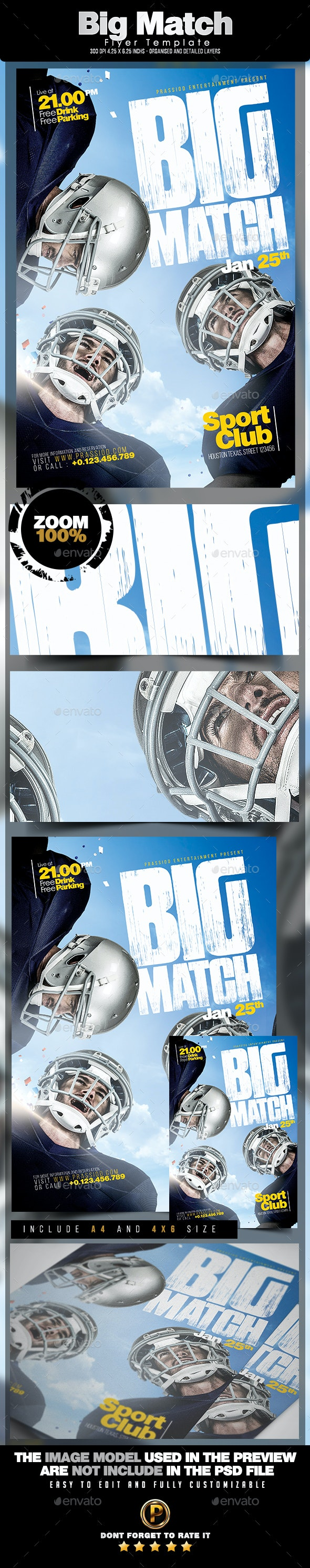 Big Match Flyer Template - Sports Events