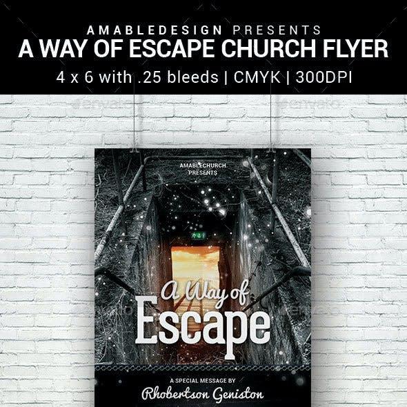 A Way of Escape Church Flyer