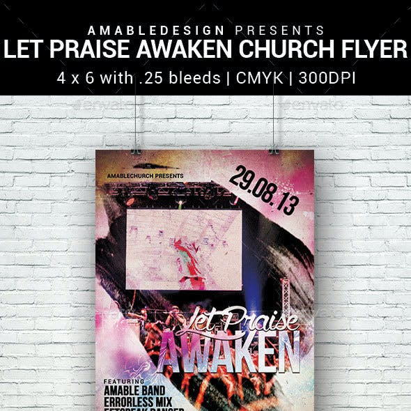 Let Praise Awaken Church Flyer