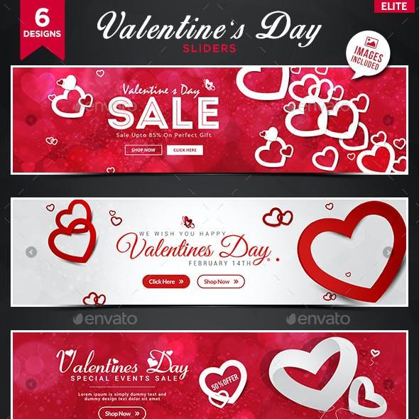 Valentines Day Sliders - 6 Designs