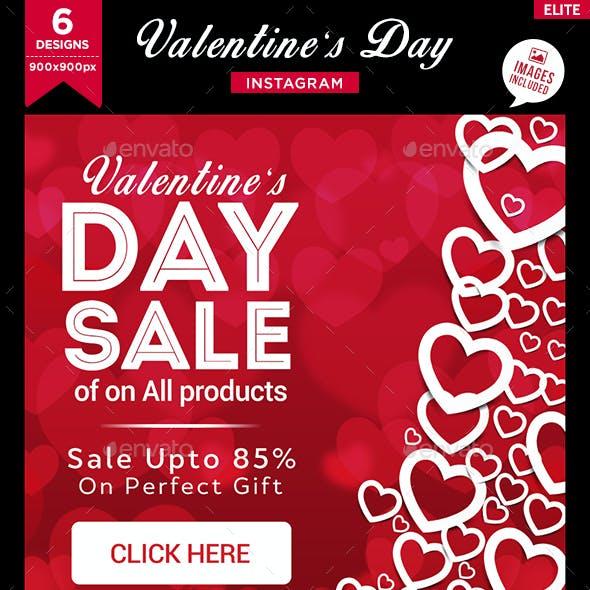 Valentines Day Instagram Templates - 6 Designs
