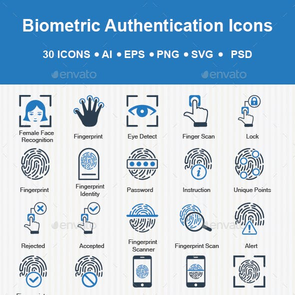 Biometrics Authentication Icons