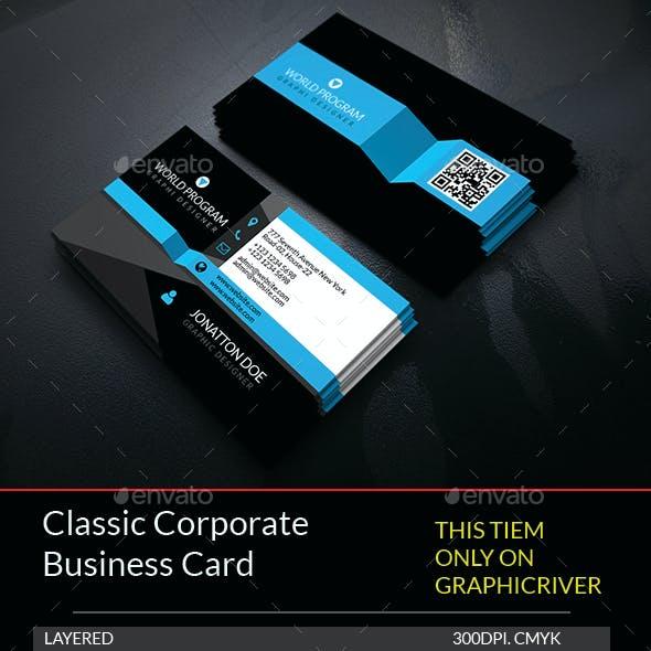 Classic Corporate Business Card Template.208