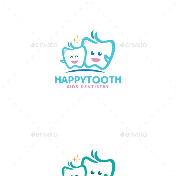 Happy Tooth Logo Mascot