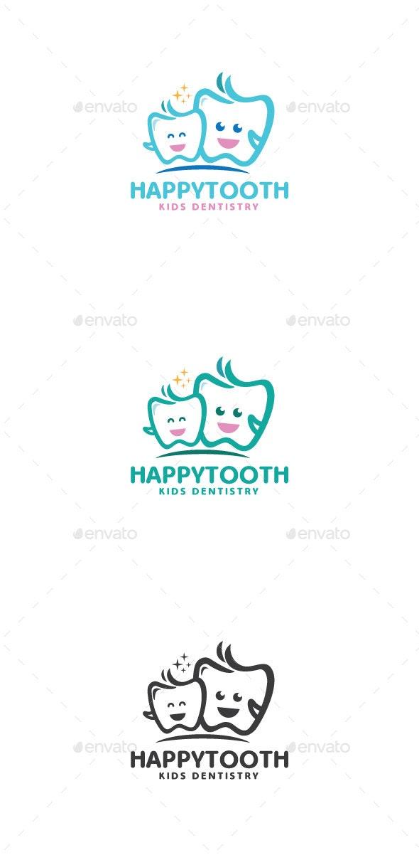 Happy Tooth Logo Mascot - Objects Logo Templates