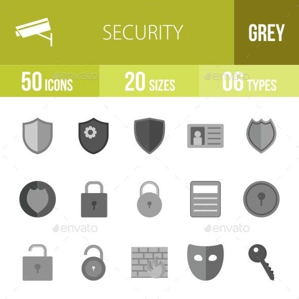Security Greyscale Icons