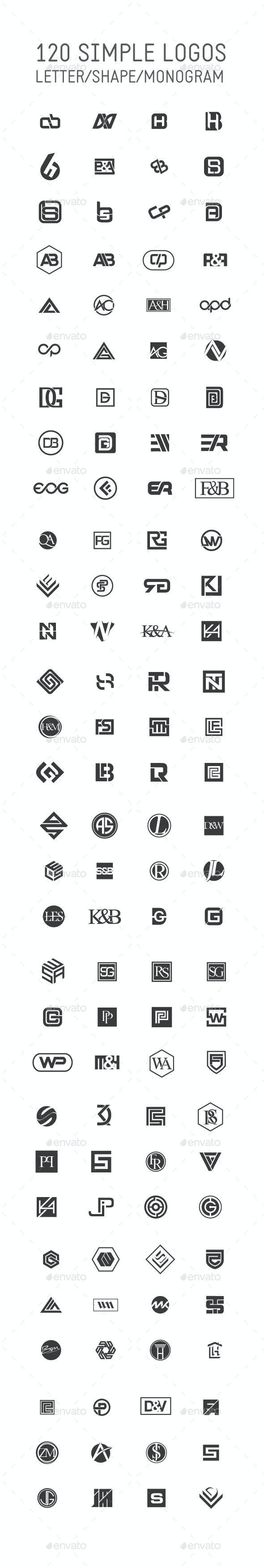 120 Simple Logo Collection - Miscellaneous Web Elements
