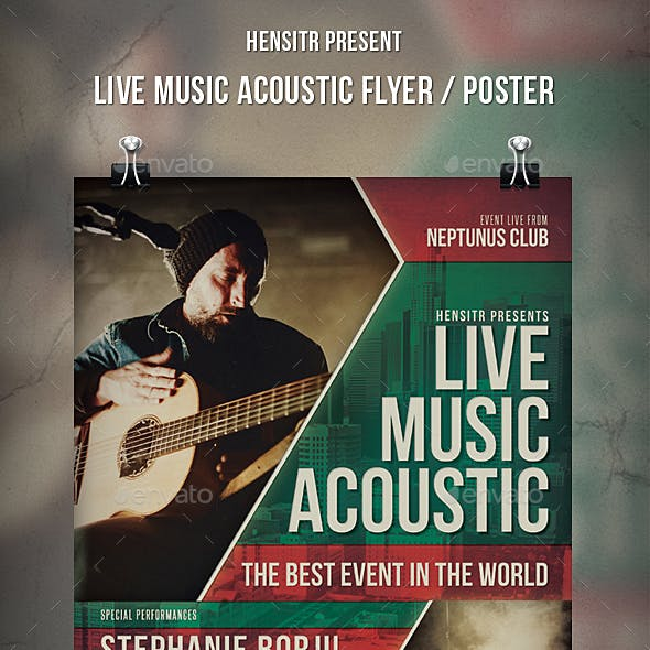 Live Music Acoustic  Flyer / Poster