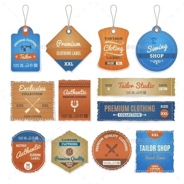 Exclusive Clothing Labels Set