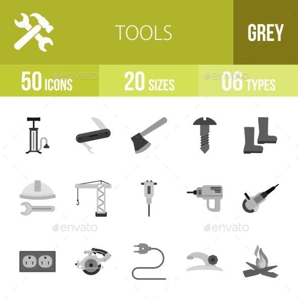 Tools Greyscale Icons