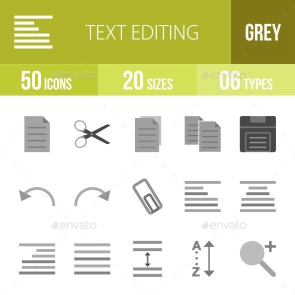 Text Editing Greyscale Icons