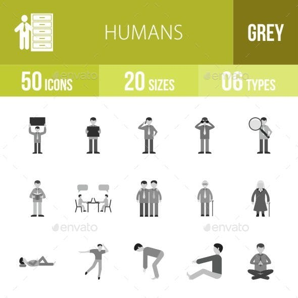 Humans Greyscale Icons