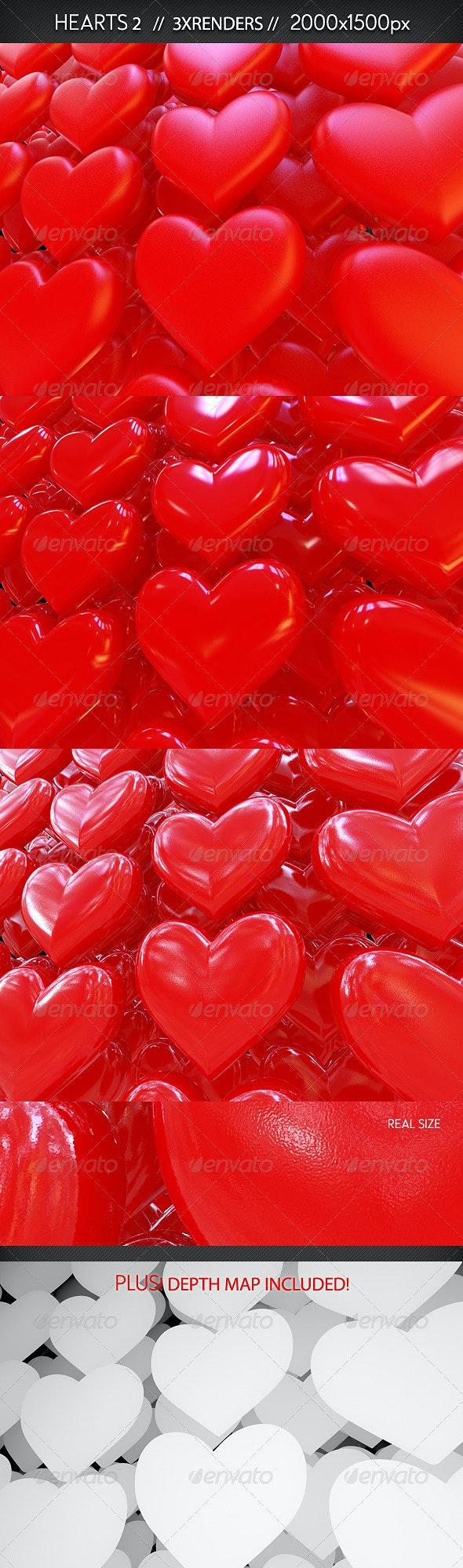 3D Hearts - Miscellaneous 3D Renders