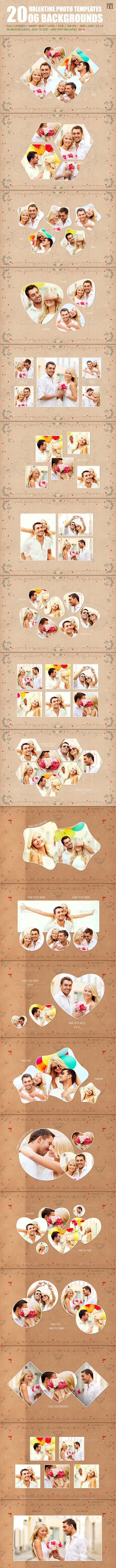 20 Valentine Photo Templates - Vol.01 - Miscellaneous Photo Templates