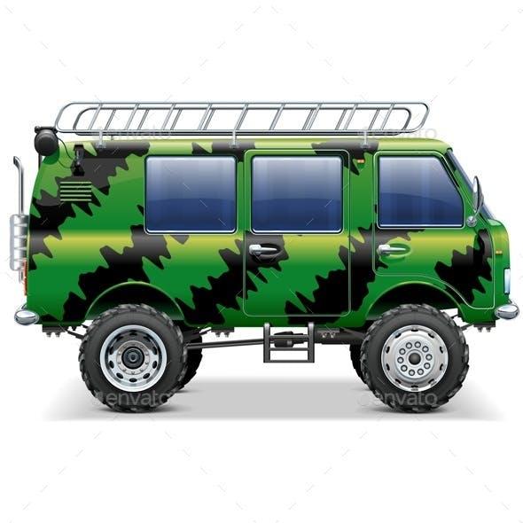 Vector Offroad Travel Car