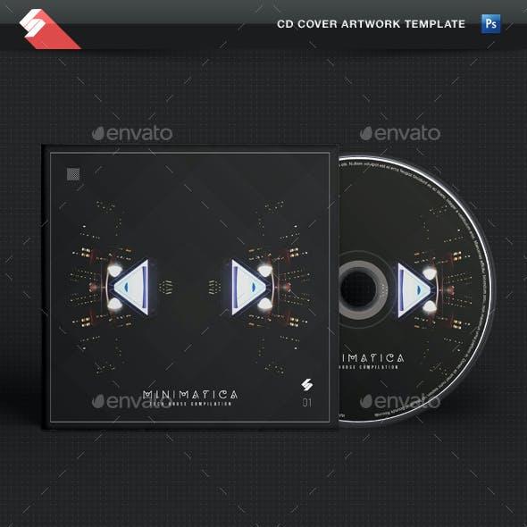 Minimatica - Minimal Techno CD Cover Template