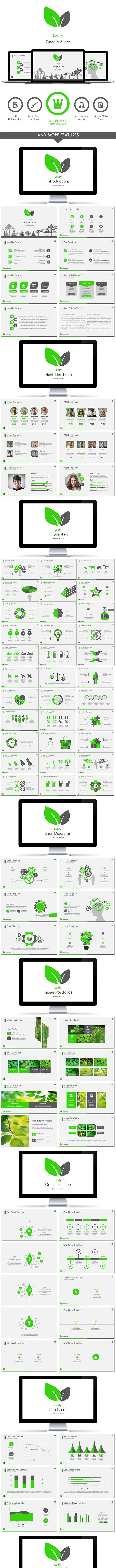 Leafy Google Slides - Google Slides Presentation Templates