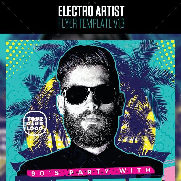 Electro House Artist Flyer v13