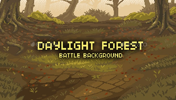 Day Light Forest - Battle Background