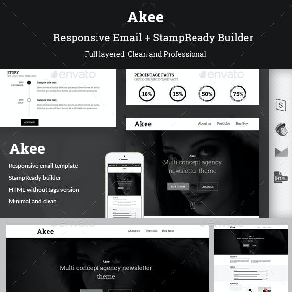 Akee - Responsive Email + StampReady Builder
