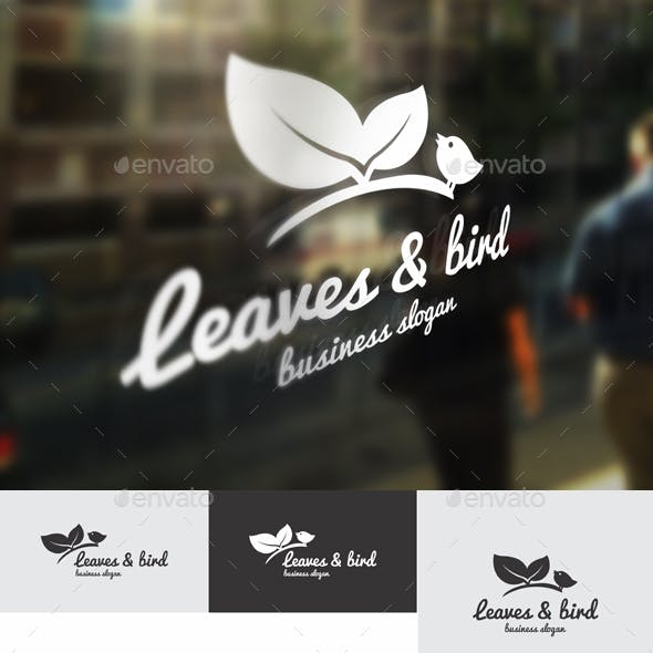 Leaves & Bird Logo