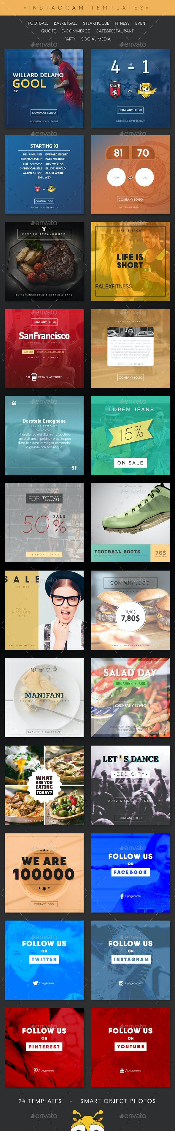 InstaTemp Instagram Templates - Social Media Web Elements