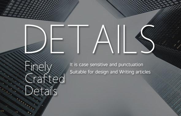 Details-Multi-purpose font - Cool Fonts