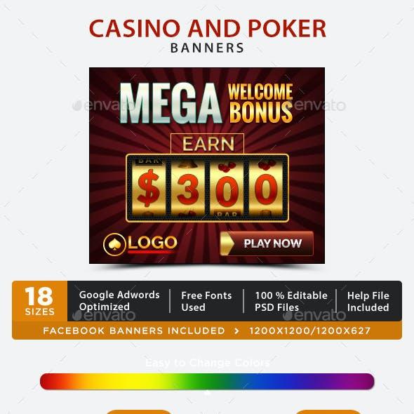 Casino & Poker Banners