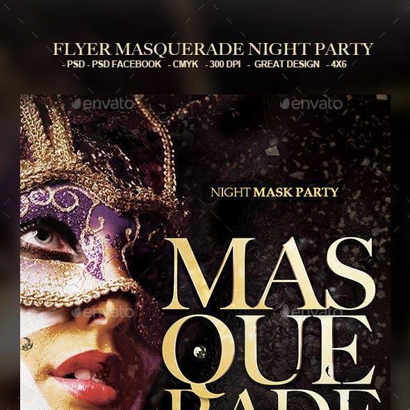 Flyer Masquerade Night Party