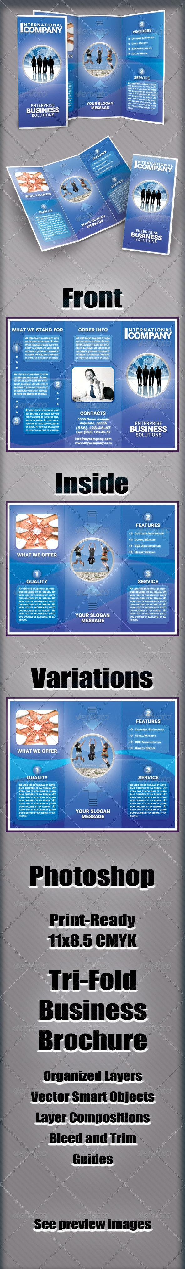Tri-Fold Brochure - International Company - Corporate Brochures