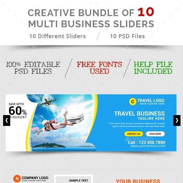 Bundle Of 10 Creative Business Sliders