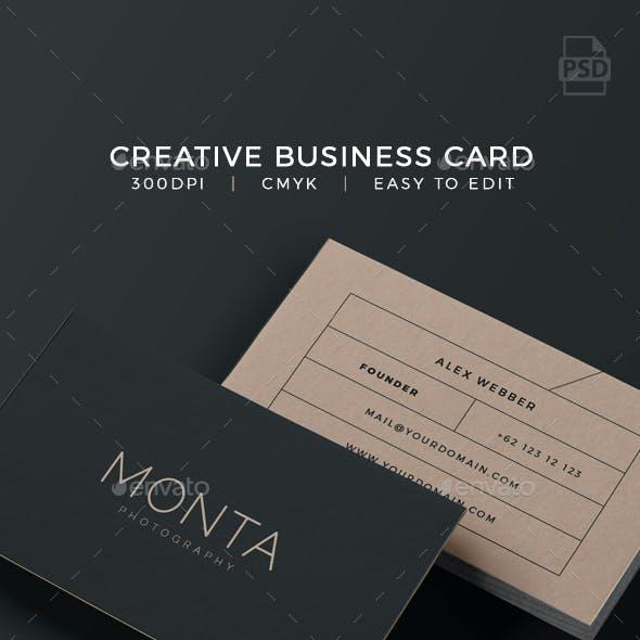 Creative Business Card - Monta