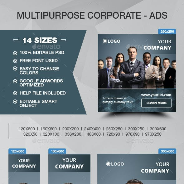 Multipurpose Corporate - Banner ADS