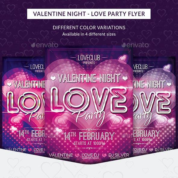 Valentine Night - Love Party Flyer