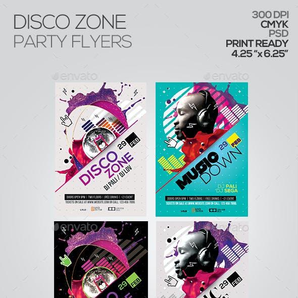 Disco Zone Party Flyer