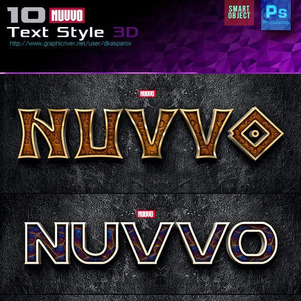 Nuvvo 3D Text Style