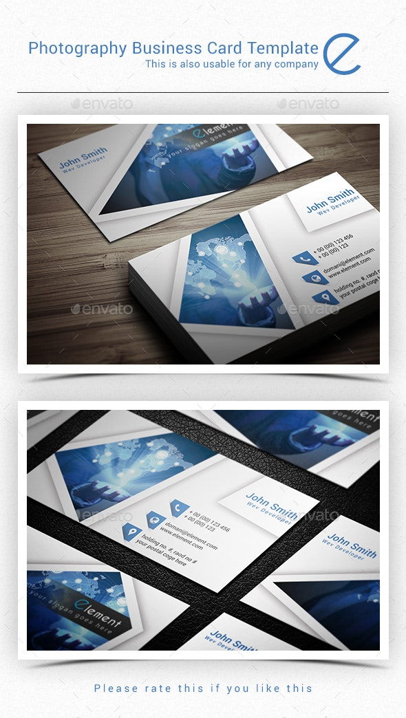 Photography Business Card Template - Creative Business Cards