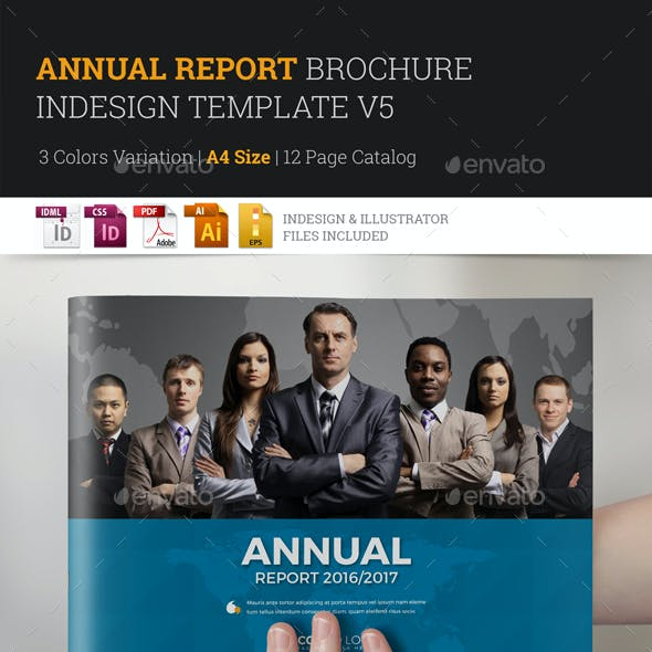 Annual Report Brochure Indesign Template 5