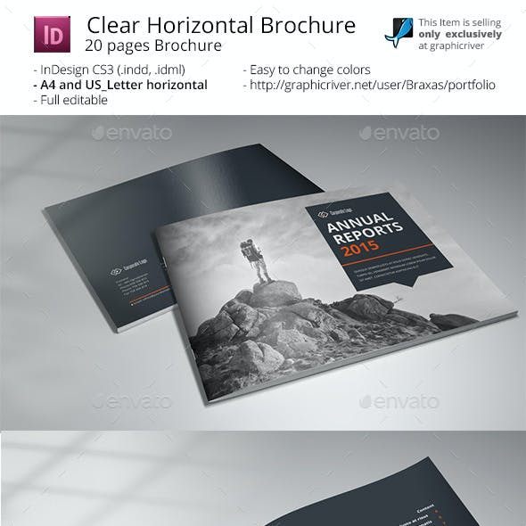 Clean Horizontal Brochure - Indesigne Template