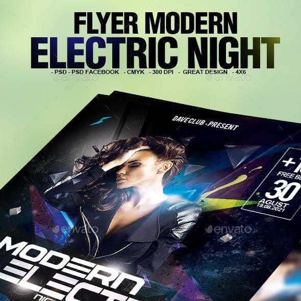 Flyer Modern Electric Night