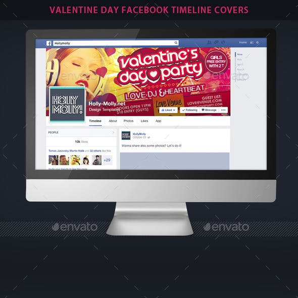 Valentine Day Party Fb Timeline Covers